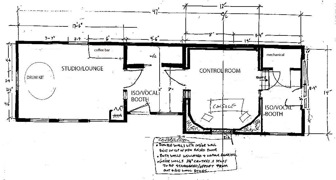 Recording Studio Floorplans Recording Studio Floorplans